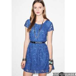 EUC Coincidence & Chance Blue lace Revel dress